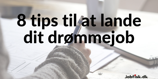 8 tips til at lande dit drmmejob